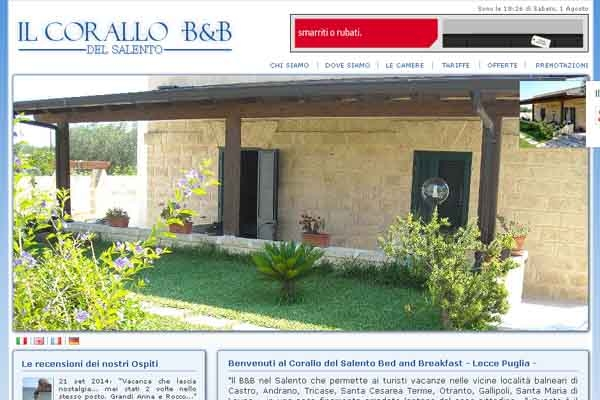 Bed and breakfast in puglia for Bed and breakfast area riservata